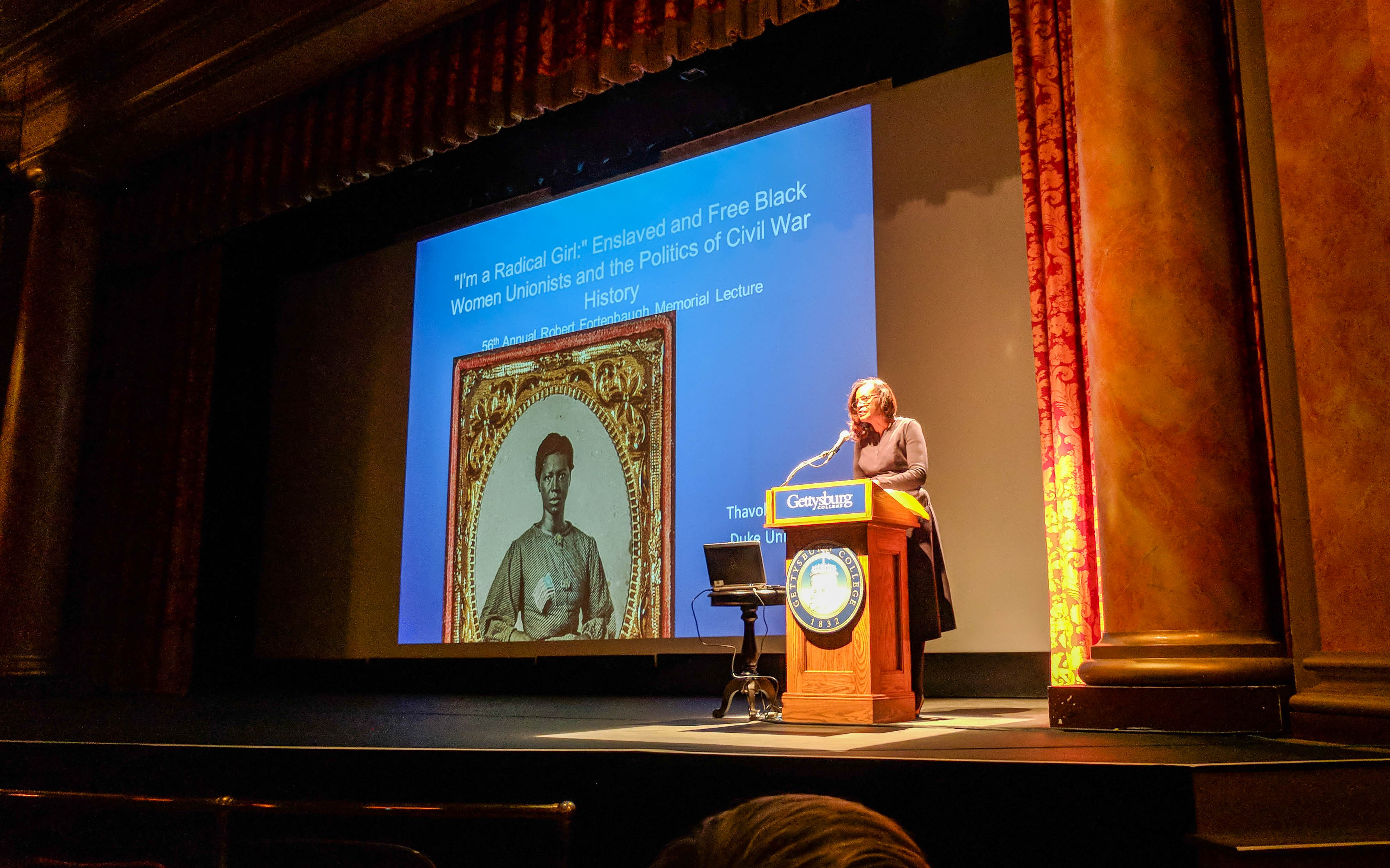 Dr. Thavolia Glymph delivered the 56th Annual Fortenbaugh Lecture on Sunday, November 19 (Photo Mary Frasier / The Gettysburgian)