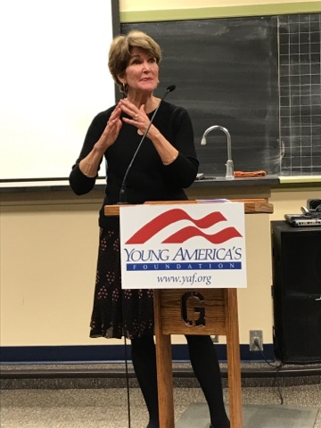 "Angela ""Bay"" Buchanan spoke Wednesday on abortion and pro-life activism (Photo courtesy of Nick Arbaugh)"