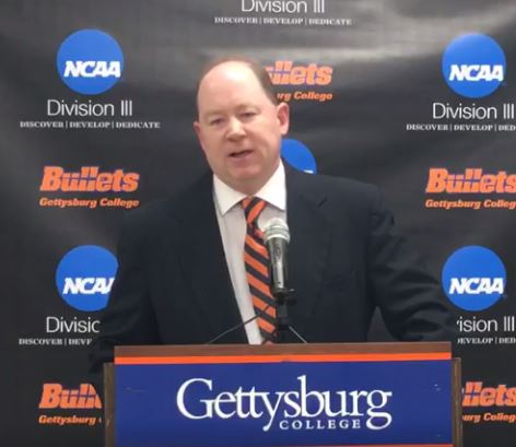 Kevin Burke '90 was announced Thursday as the new coach of the Gettysburg College football team