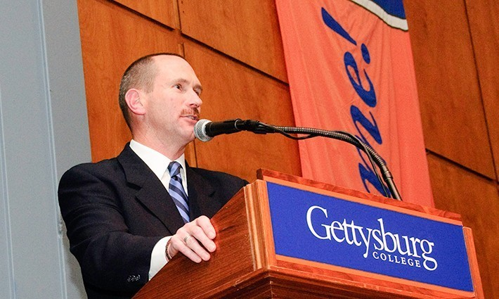David Wright speaking at a college event (File photo)