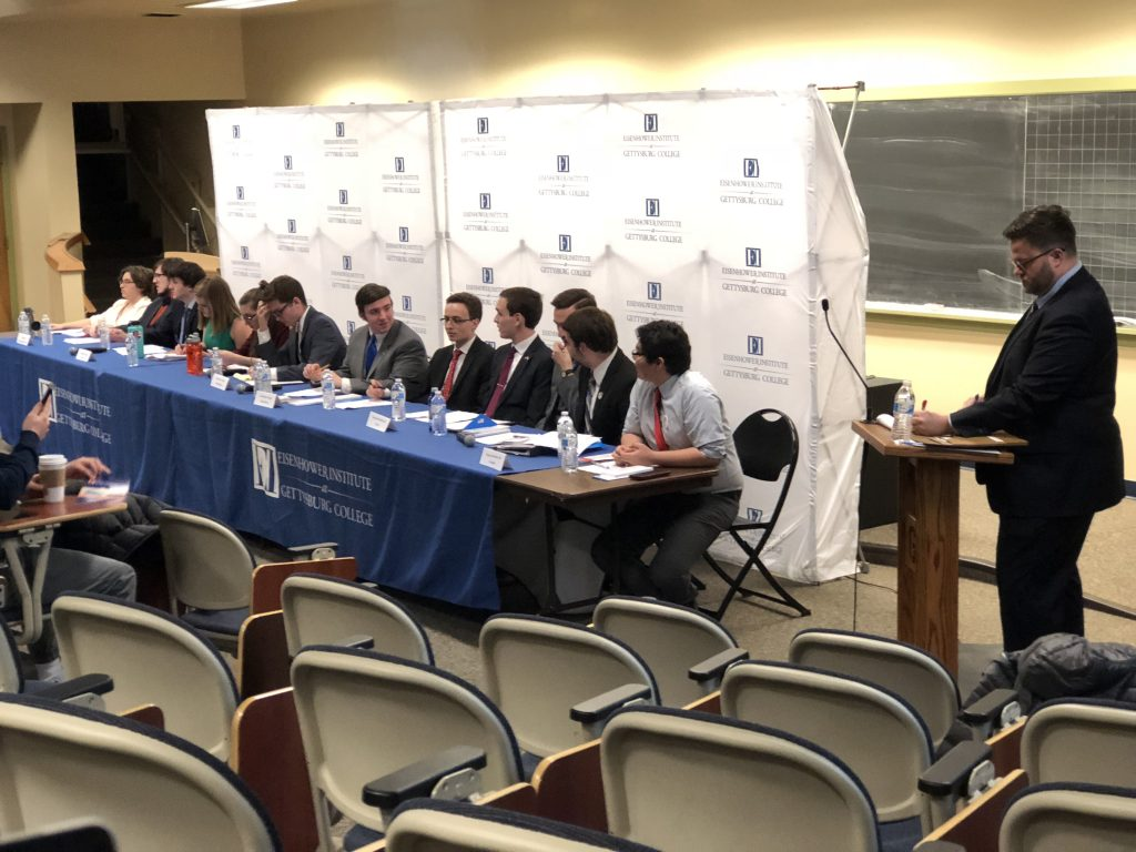 Representatives from various campus political groups debated on a wide range of issues. (Photo Jamie Welch/The Gettysburgian)