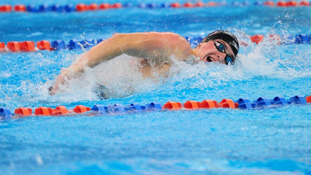 Senior Ty Dougherty will lead the men's swim team in the Centennial Conference Championships this weekend (Photo Courtesy of Gettysburg College Athletics).