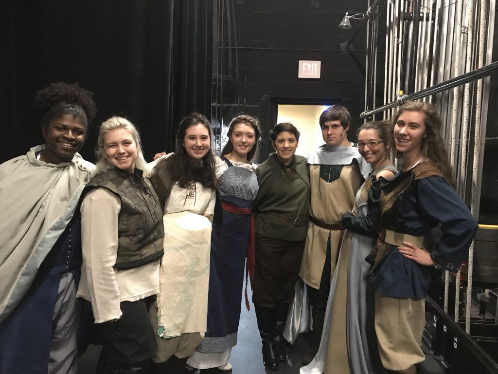 "Members of the ""King Lear"" cast (Photo Thea Toocheck/The Gettysburgian)"