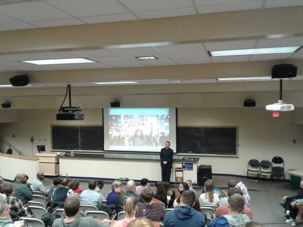 Dr. Edward Baptist, Professor of History at Cornell University, delivers the Gondwe Lecture (Photo Benjamin Pontz/The Gettysburgian)