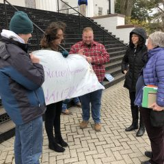 Students Gather at Penn Hall Steps to Protest Maintenance Issues