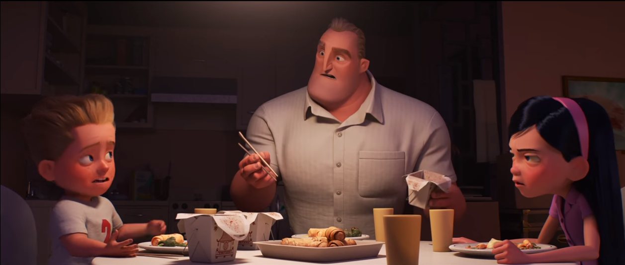 A screenshot from the trailer for Incredibles 2 (Copyright Disney Pixar)