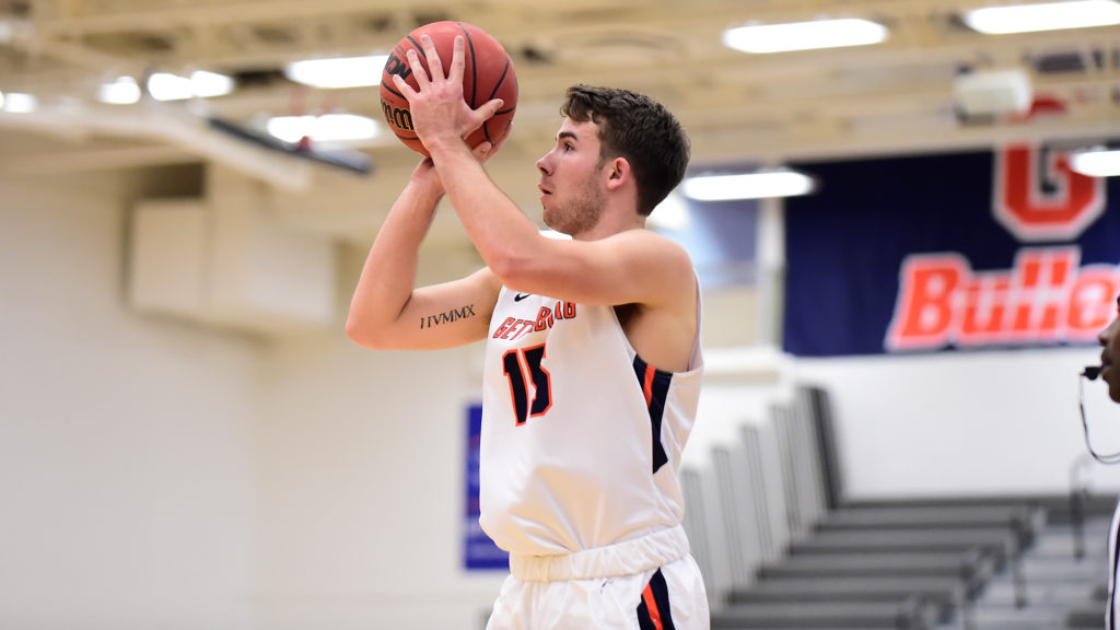 Sophomore Nick Lord had 10 points in Gettysburg's win over Duke (Photo Courtesy of David Sinclair).