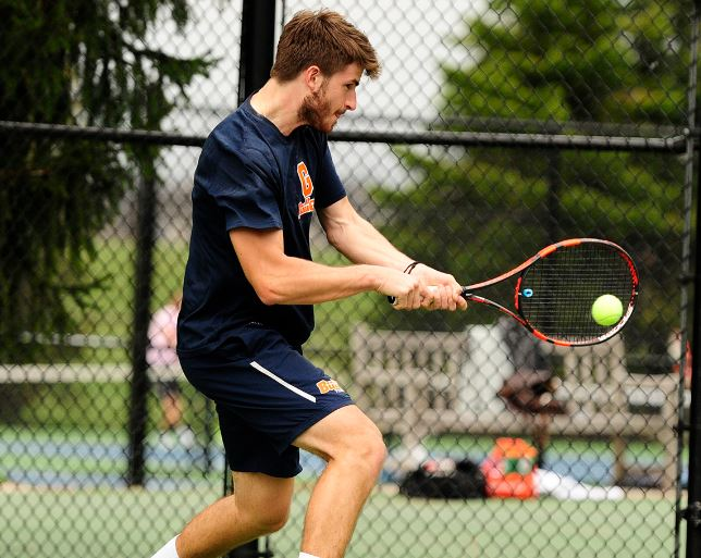 Tennis captain Christian Deschapelles (Photo courtesy of Gettysburg College Athletics)