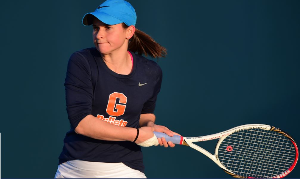 Maddie Class '19 and the Bullets Women's Tennis team picked up its fourth win of the season (Photo courtesy of Gettysburg College Athletics)