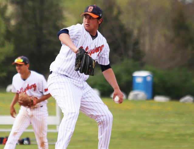 Brad DeMartino pitches for the Bullets (Photo courtesy of Gettysburg College Athletics)