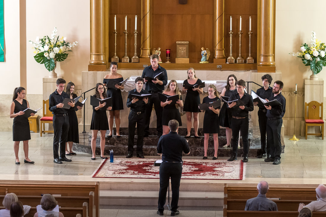 The Lux Chamber Choir performs at St. Jerome's Church in June 2018 (Photo courtesy of Lux)