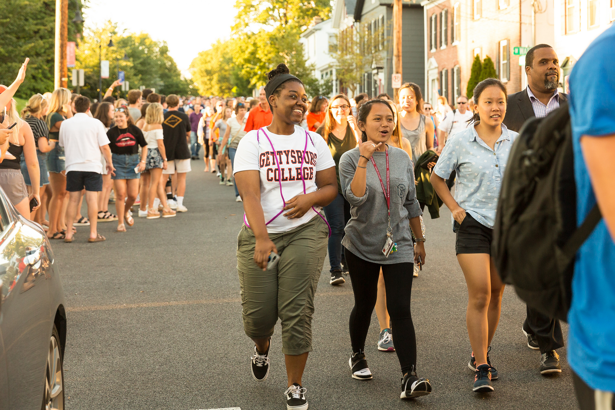 Students from the Class of 2022 participate in the First-Year Walk (Photo courtesy of Gettysburg College)