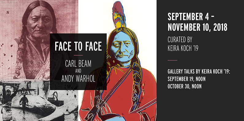 Banner for Keira Koch's exhibition, which will open in September (Photo courtesy of Schmucker Art Gallery)