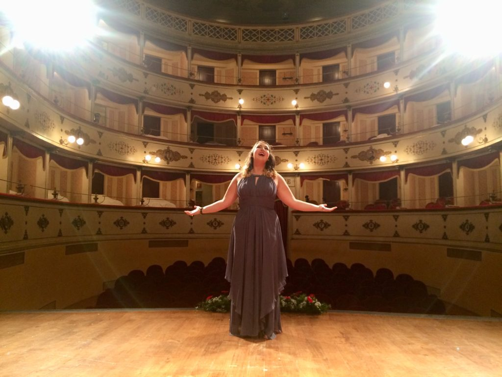 Elizabeth Buscher performs opera in Italy (Photo courtesy of Elizabeth Buscher)
