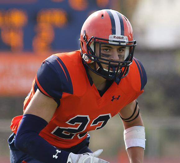 Senior Mike McKnight was selected one of the Gettysburg football team's 2018 captains (Photo courtesy of Gettysburg College Athletics)