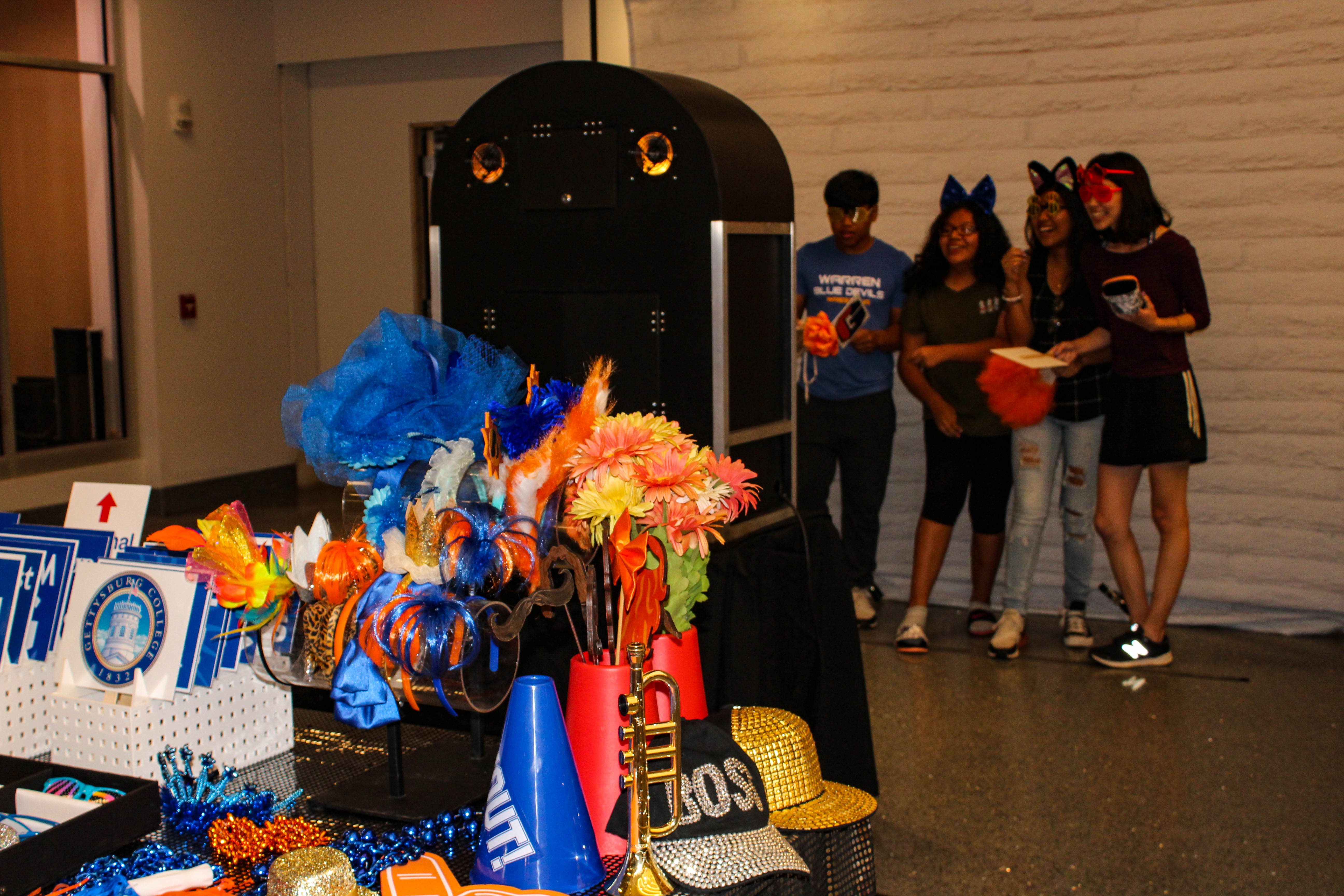 The view from the photo booth at the College Union Building Grand Opening (Photo Mary Frasier/The Gettysburgian)