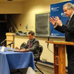 Yoo, Coll Debate Extent of President's War Power at Fielding Center Event