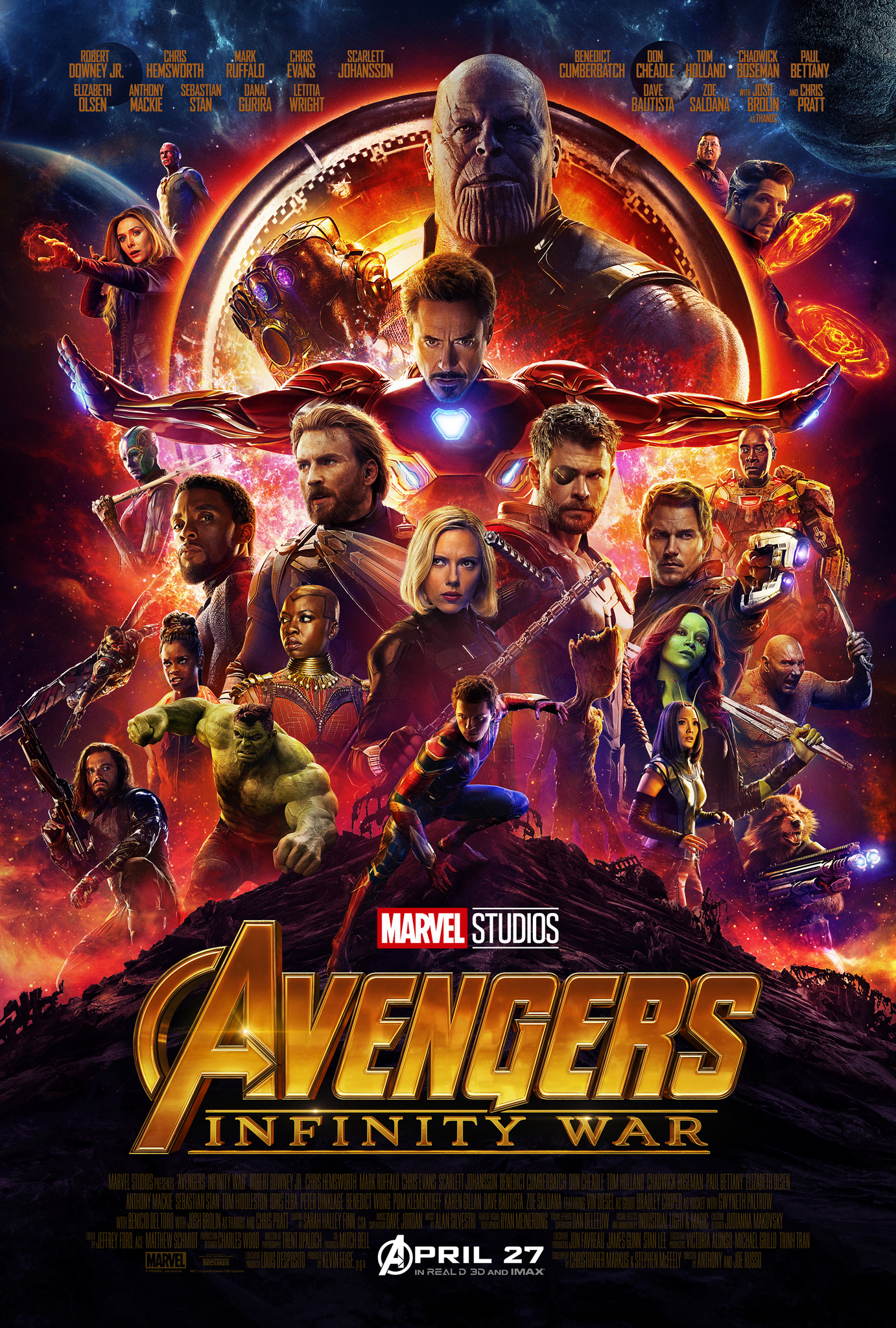 Poster for Avengers: Infinity War (Promotional photo)