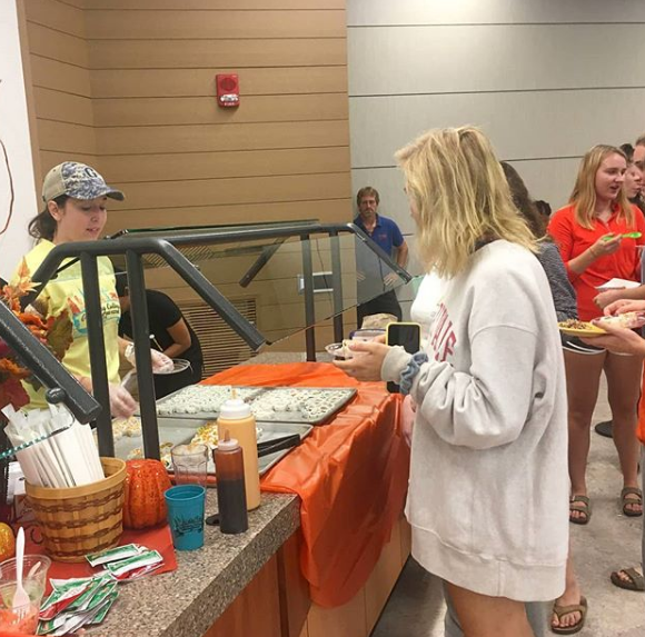 Inclement weather moved the 2018 International Food Festival indoors, but there was still a wide variety of cuisine available for sampling (Photo Samantha Hann/The Gettysburgian)