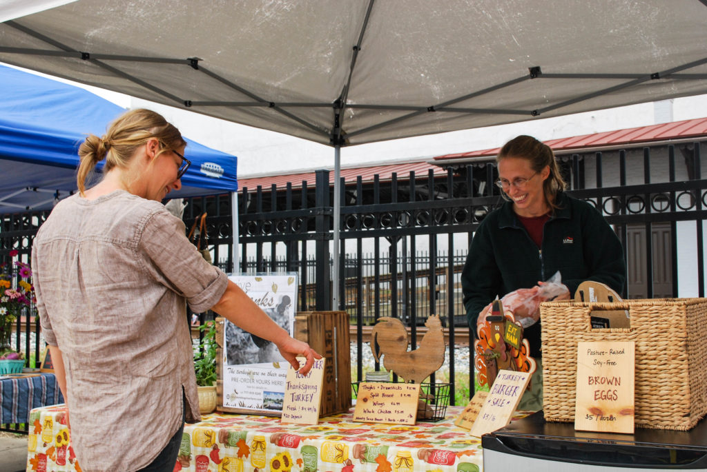 Two farmers' markets downtown host local vendors who sell fresh produce, baked goods, and more (Photo Amanda Fowler/The Gettysburgian).