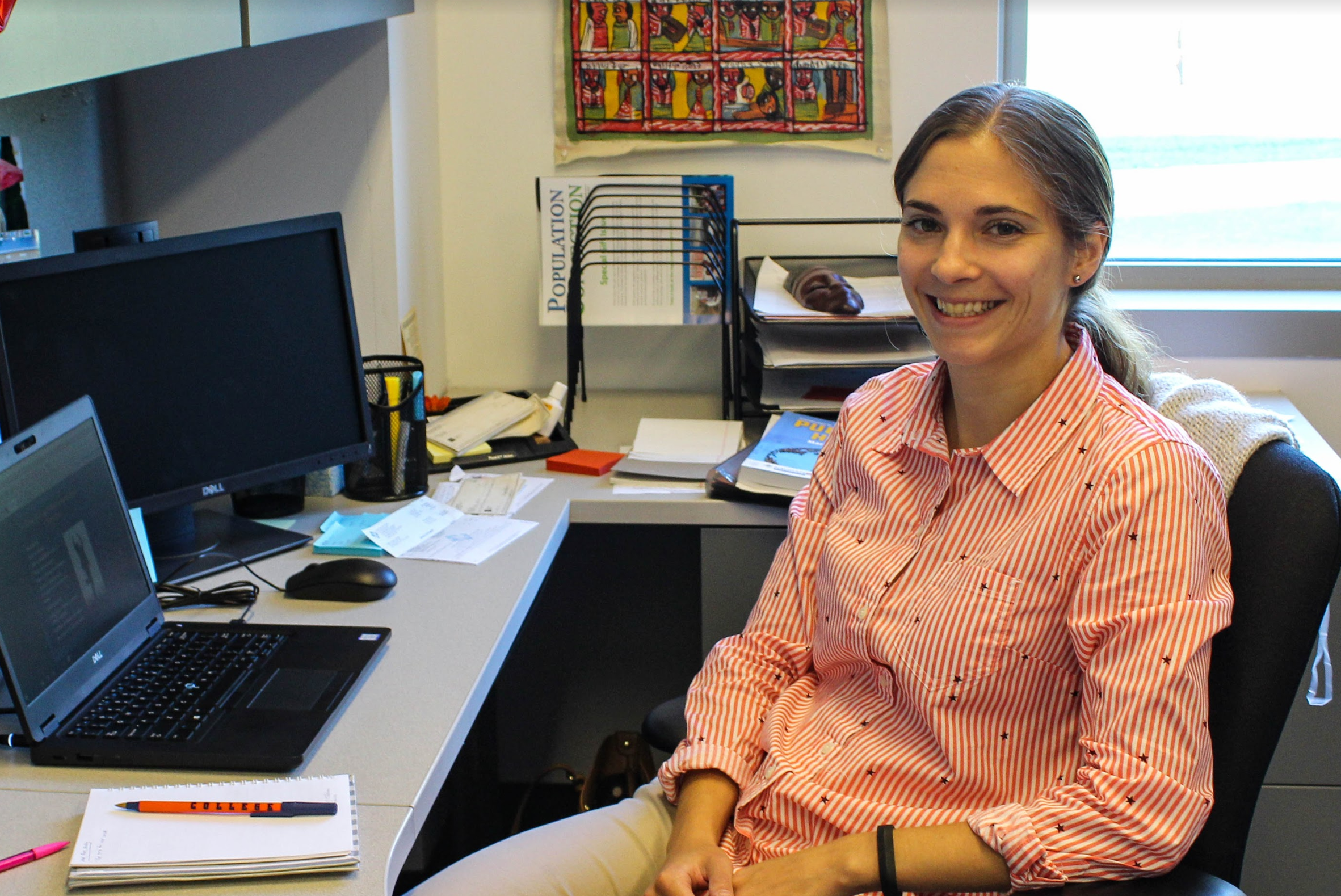 Professor Benka-Coker is thrilled to join the Health Science department (Photo Mary Frasier/The Gettysburgian)