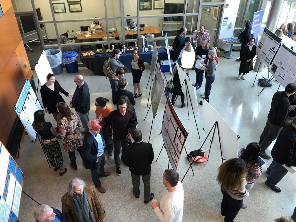 Students presented their summer research in the Science Center Atrium (Photo