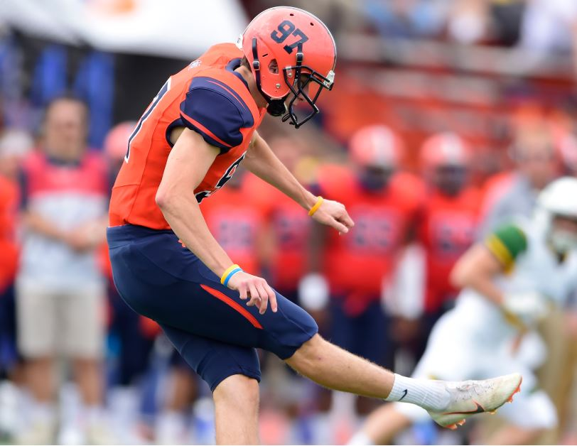 Justin Geisel was named Centennial Conference Player of the Week after kicking four field goals in the victory (Photo courtesy of Gettysburg College Athletics)