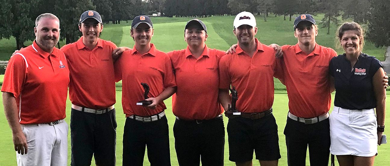 The men's golf team at a tournament earlier in the fall (Photo courtesy of Gettysburg College Athletics)