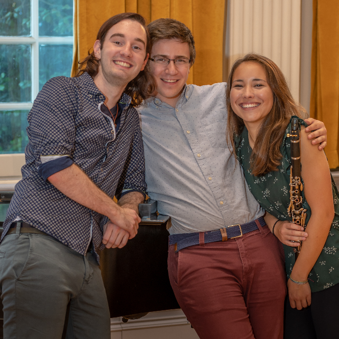 Robby Napoli (center) with recital collaborators Aaron Thompson (L) and Jasmin Eddy