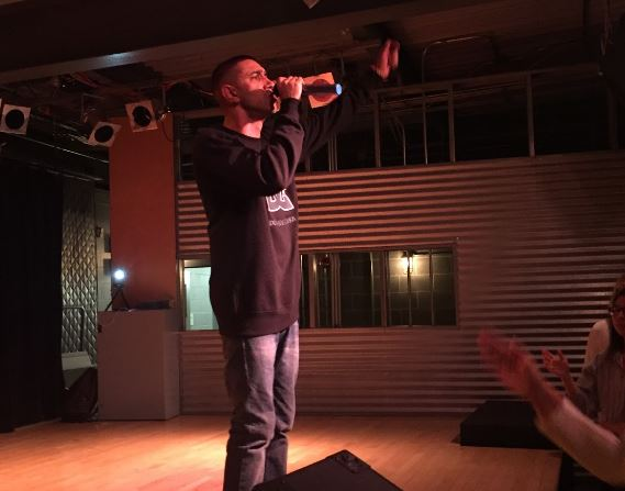Italian Hip-Hop Artist, Amir Issaa, performed on campus (Photo Sam Shourds/The Gettysburgian)