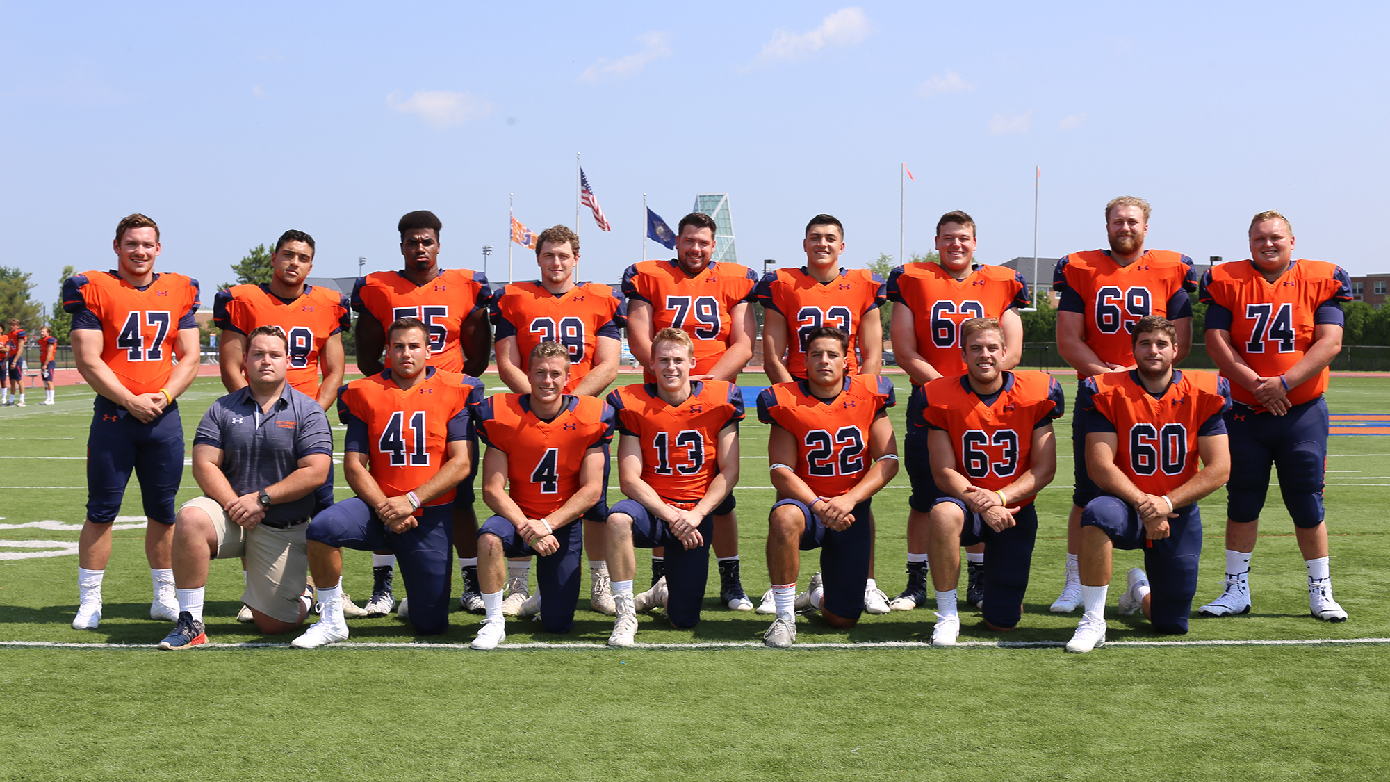 Gettysburg's 16 Seniors were honored before the game (Photo courtesy of David Sinclair, Gettysburg College Athletics)