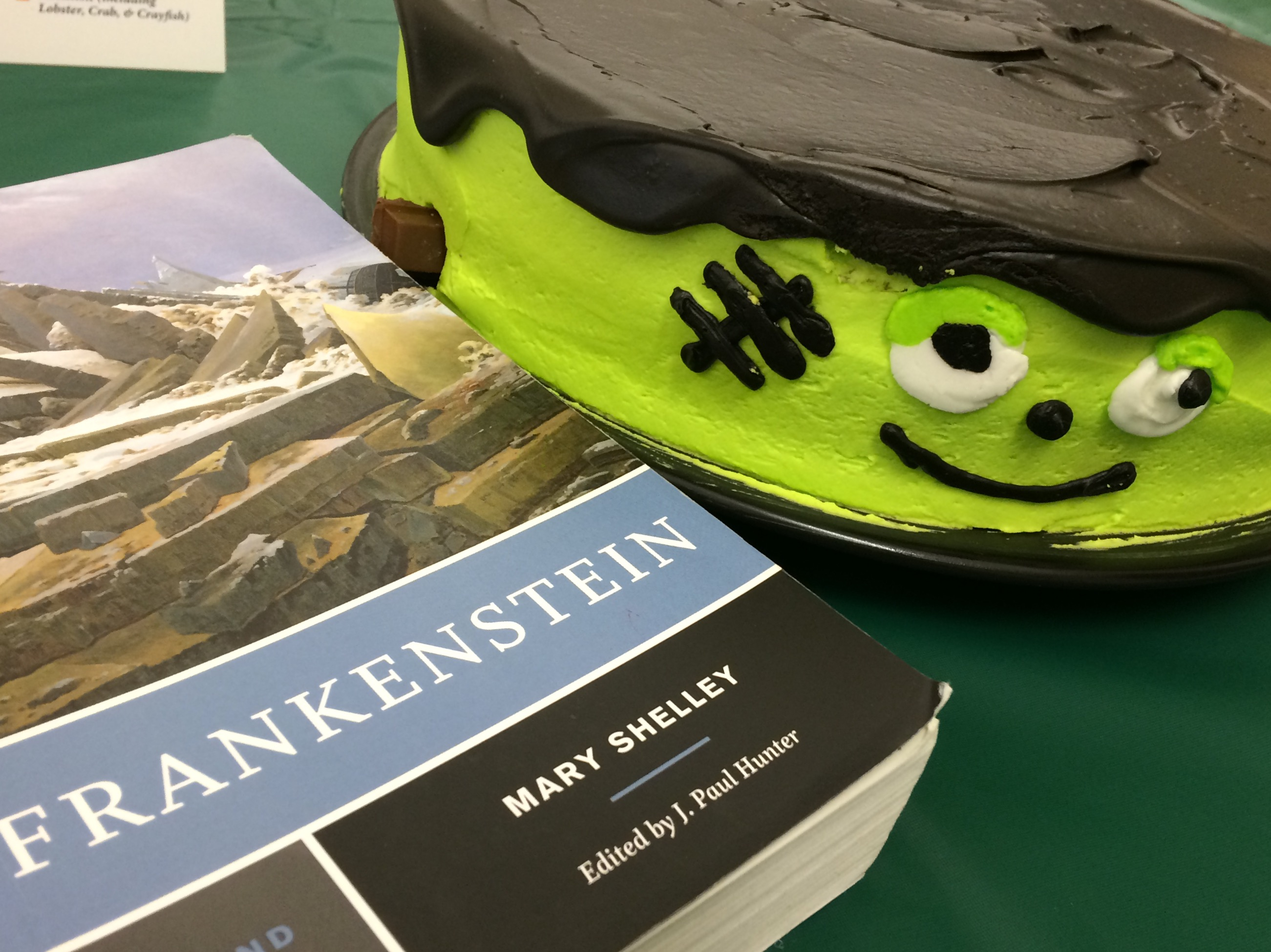 The Frankenreads event included fun Frankenstein-themed snacks and riveting conversations on the timeless classic (Photo Julia Chin/The Gettysburgian)