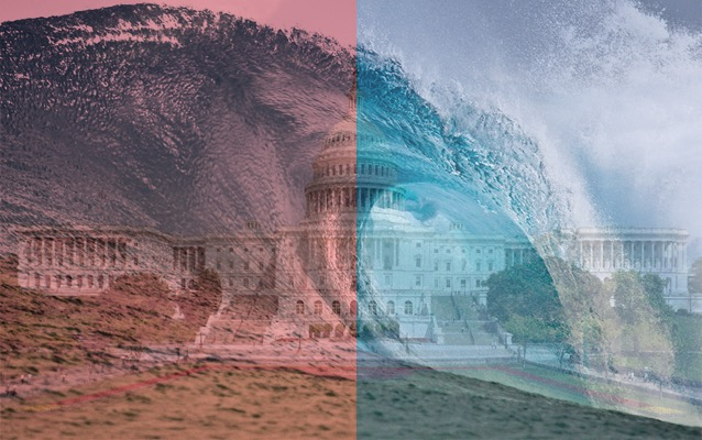 (Results from the 2018 Midterms are described as the effect of Pink & Blue waves, photo courtesy of the National Park Service and Wikimedia Commons)
