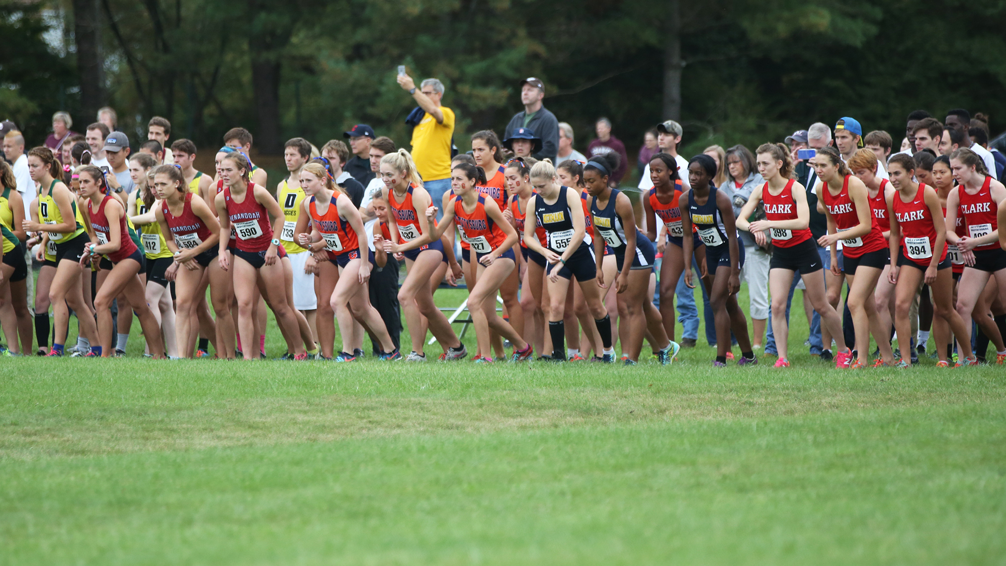 The Women's Cross Country team raced in the Annual Gettysburg Invitational (Photo courtesy of Gettysburg College Athletics).