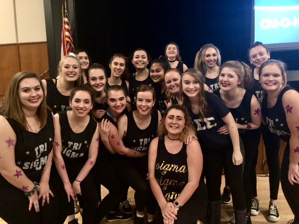 Tri Sigma sisters won the Chi O Night Live dance competition, raising money for the Make-A-Wish Foundation in the process (Photo Thea Toocheck/The Gettysburgian)