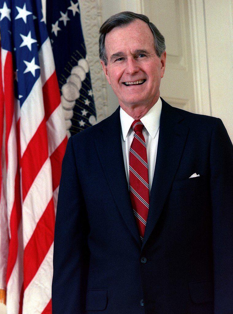 (George H W Bush circa 1989, photo courtesy of Wikimedia Commons)