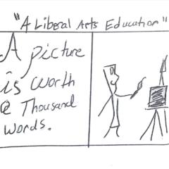"Cartoon: ""A Liberal Arts Education"""