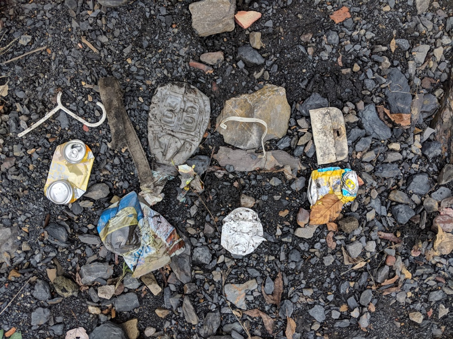 (Collection of litter, photo courtesy of Jesse Shircliff)