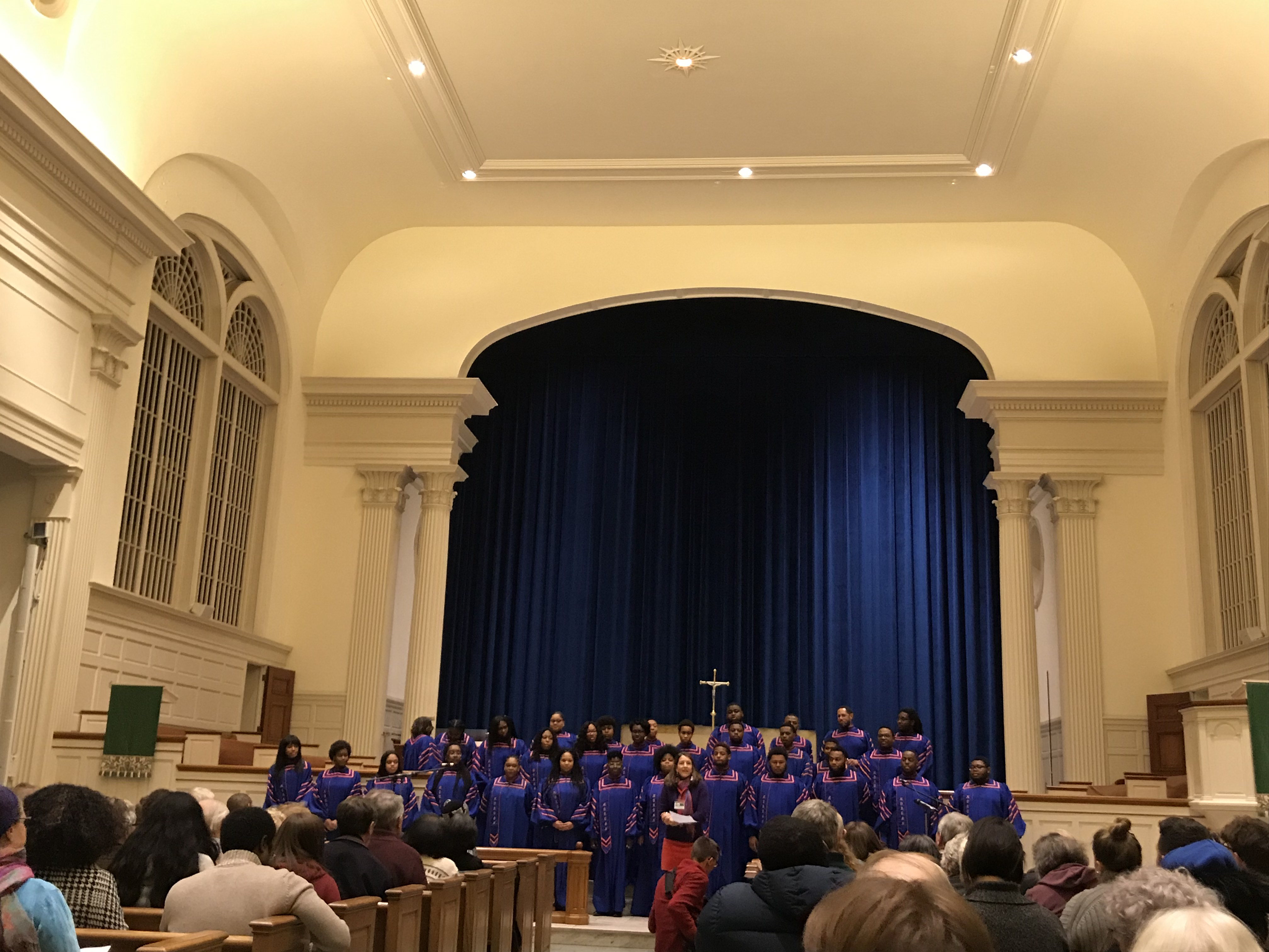 The Morgan State Choir performing at Christ Chapel for Martin Luther King Day. (Photo Cam D'Amica/The Gettysburgian)