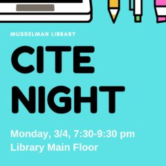 Musselman Library Holds Cite Night