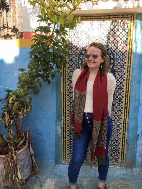 Mary Kate Danberg '21 participated in an Immersion Trip to Morocco over winter break (Photo courtesy of Mary Kate Danberg).