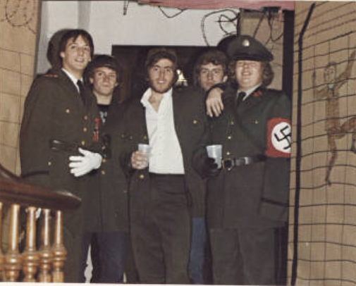 Garthwait is on the right of this photo from the 1980 edition of Spectrum, the college yearbook