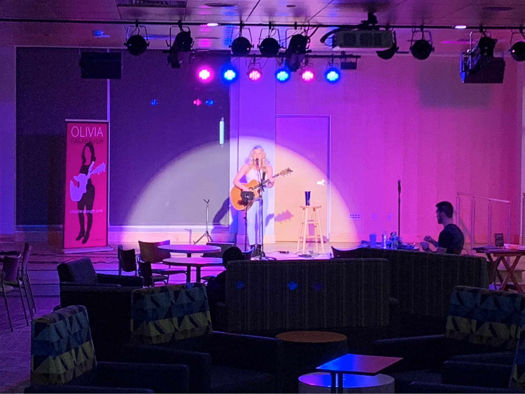 Olivia Farabaugh performed in the Junction for the Coffeehouse Series hosted by the Campus Activities Board (Photo courtesy of Sam Shourds).