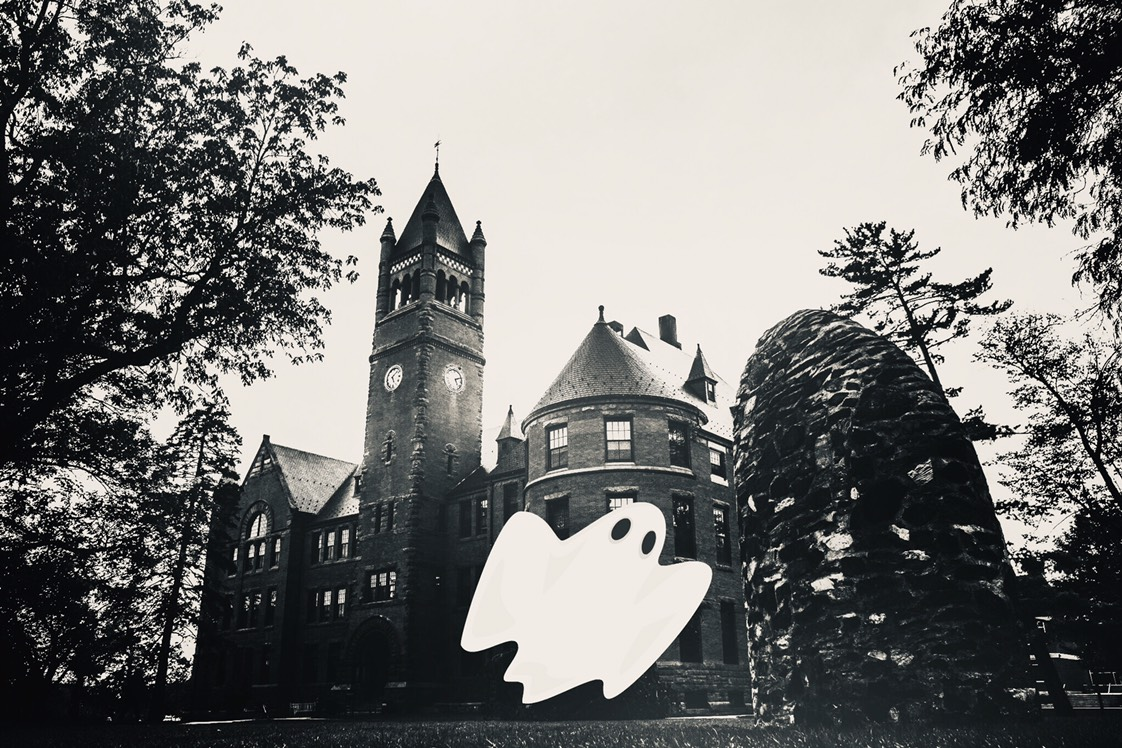 Ghosts haunt the halls of Gettysburg College, but some of these specters are less well-known than others (Photoshop Lizzie Hobbs/The Gettysburgian).