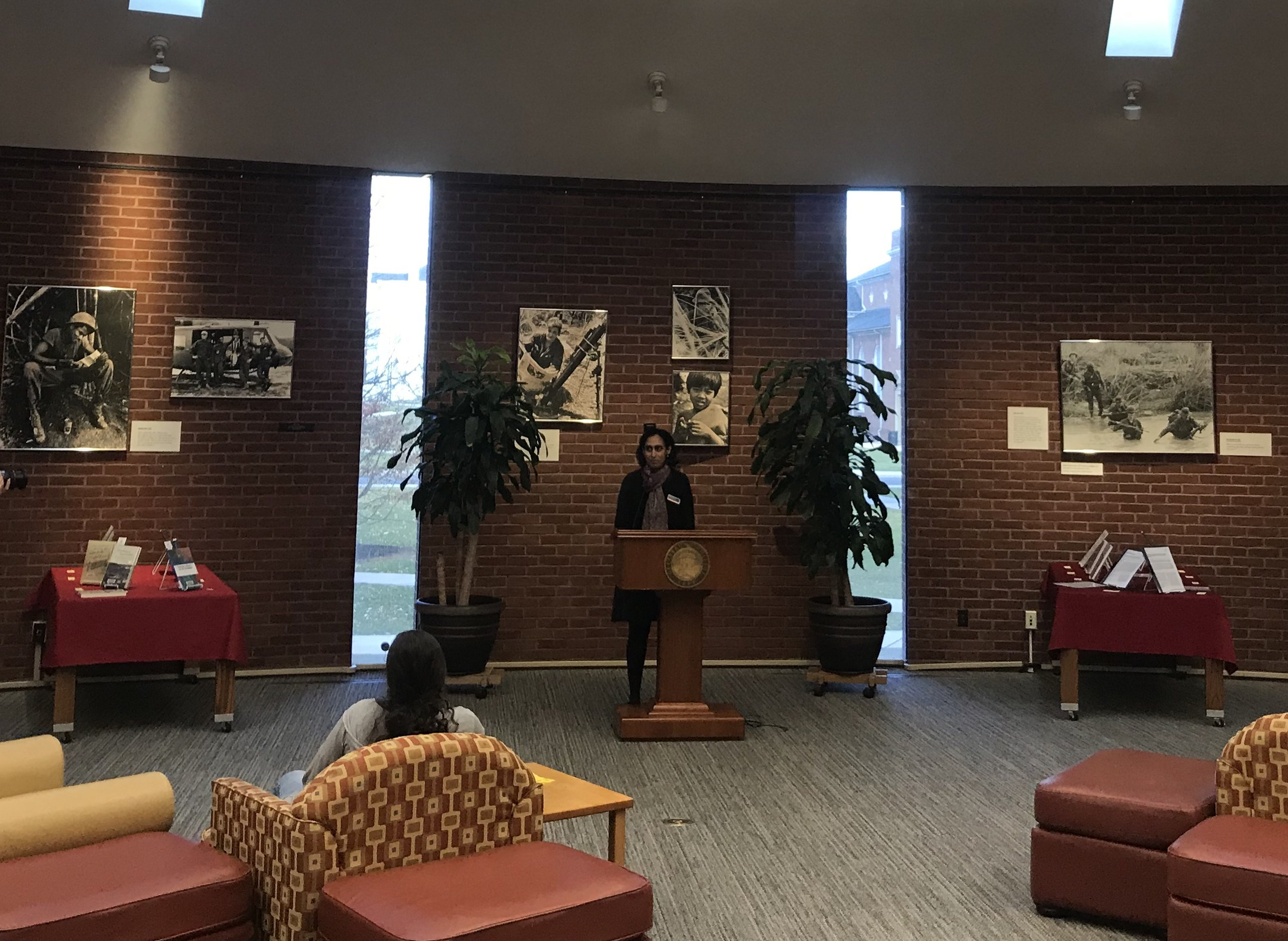 Students and faculty were honored at the College Authors Reception at the Musselman Library Apse (Photo Cameron D'Amica/The Gettysburgian).