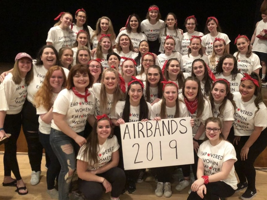 Tri Sigma won the Airbands competition for the second year in the row (Photo courtesy of Thea Toocheck/The Gettysburgian)
