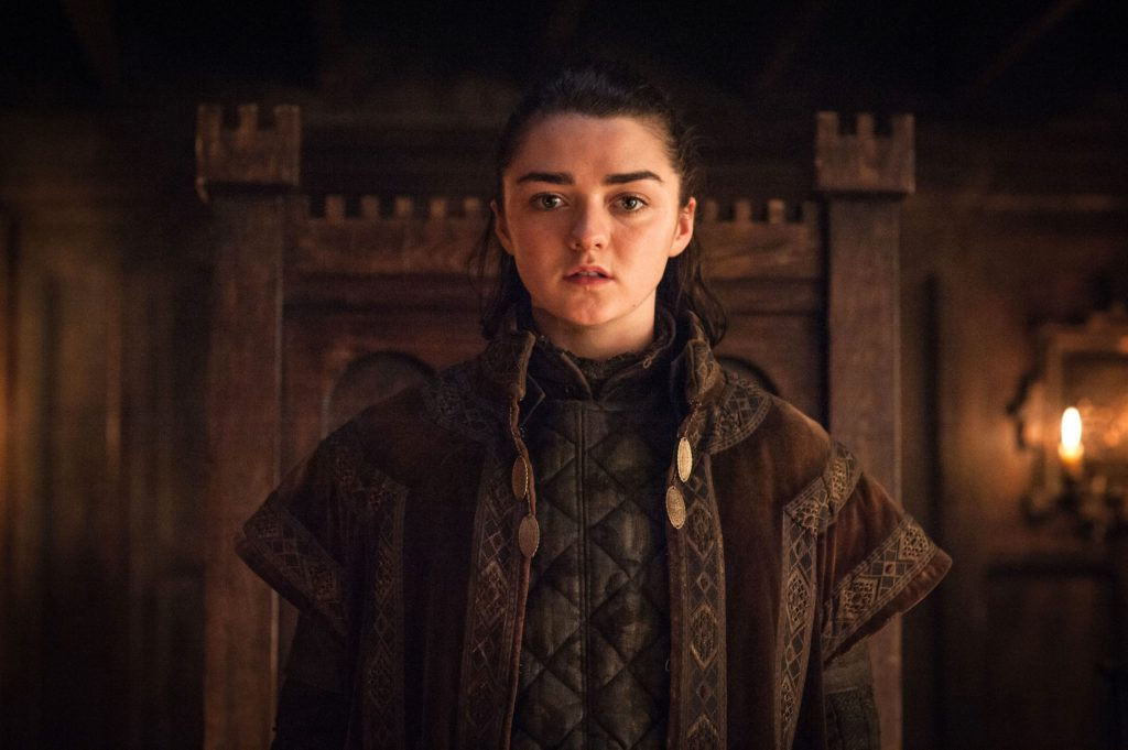 "Maisie Williams as Arya Stark in ""Game of Thrones."""