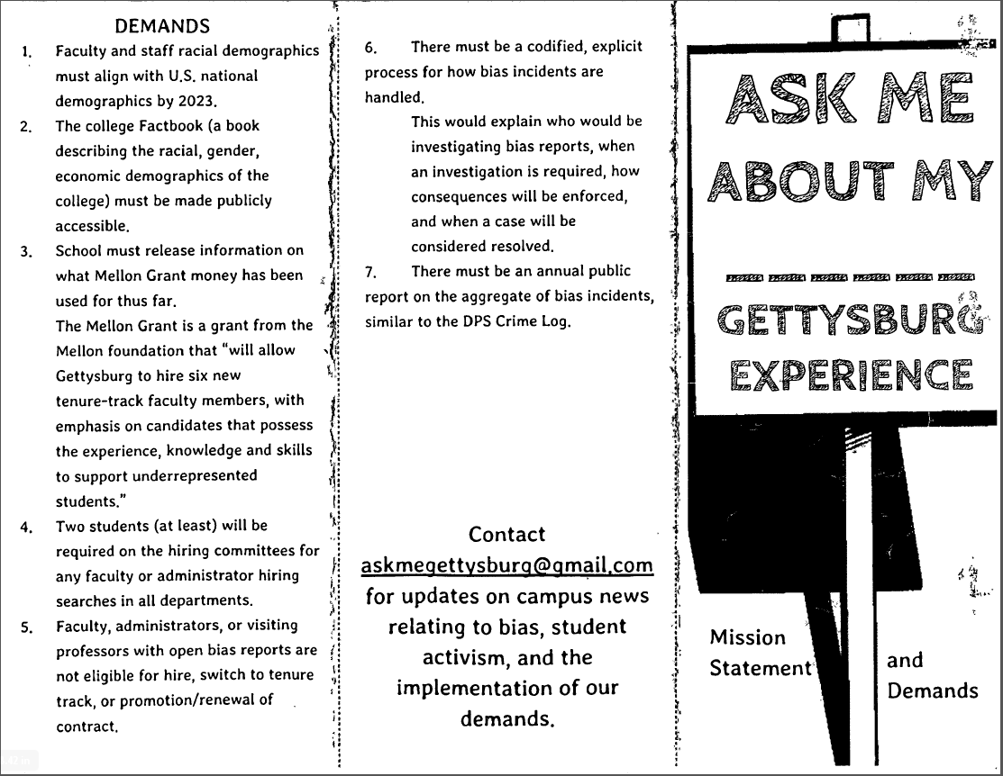 Protest Pamphlet 1