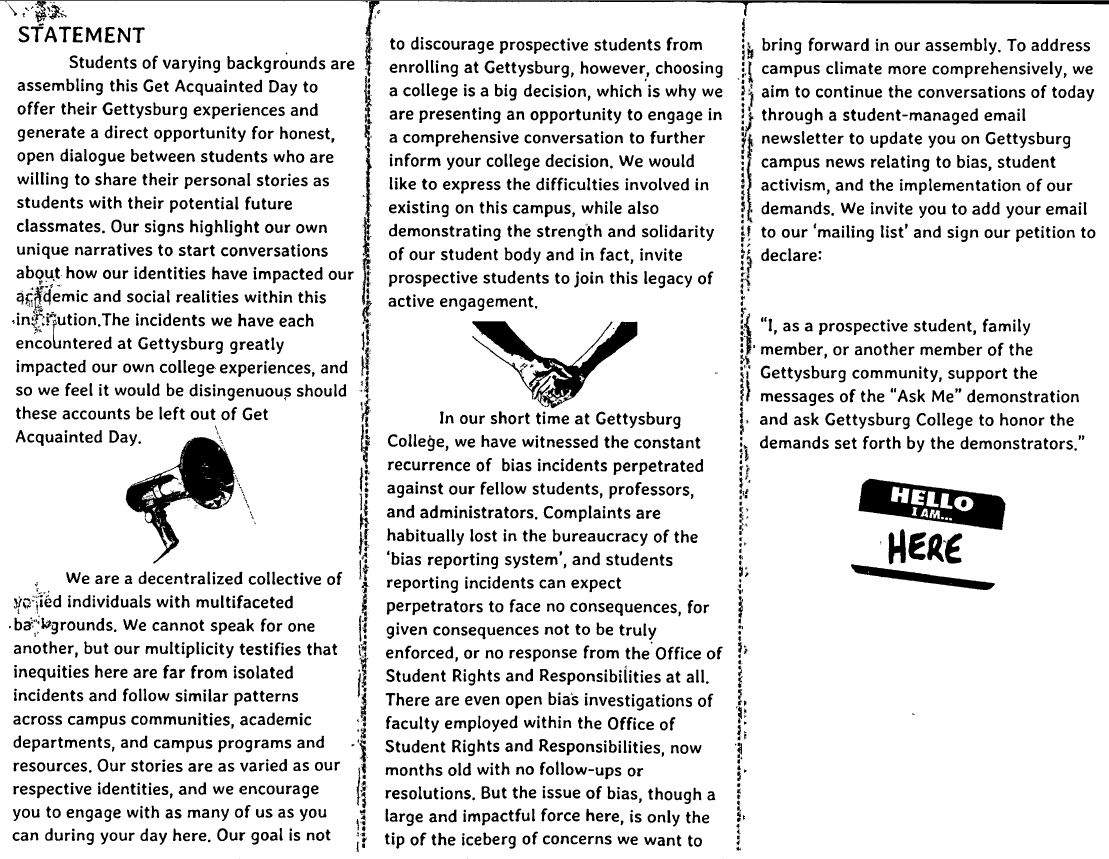 Protest Pamphlet 2