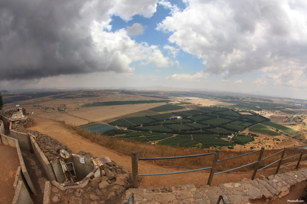 Syria viewed from the border of the Golan Heights (Photo courtesy of Wikimedia Commons)